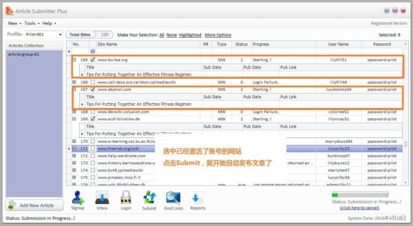Article Submitter Plus 1.1.4 SEO文章批量发布工具 - 第23张  | SEO破解工具