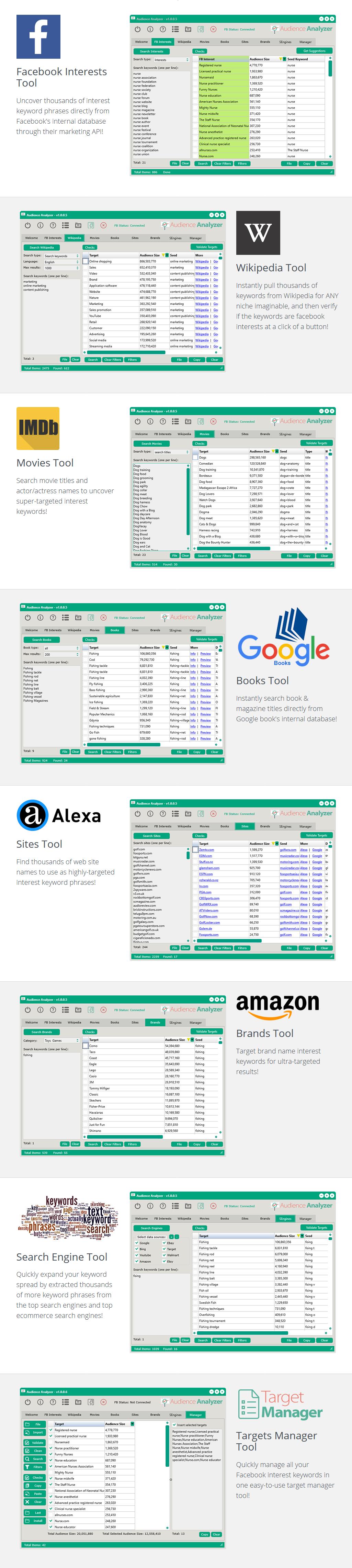 Audience Analyzer 1.0.20-Facebook广告工具 - 第2张  | SEO破解工具